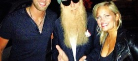 Cole Allen, Billy Gibbons of ZZ Top & Sena Ehrhardt